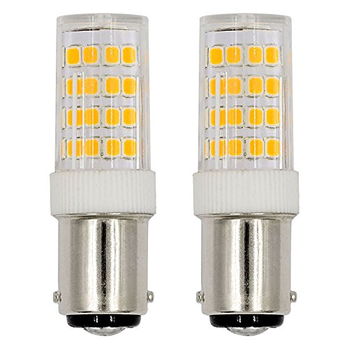 Ba15d LED Light Bulb ed Sewing Machine Light 5Watts Double Contact Bayonet Base Warm White 2700k 120Volts T3/T4/C7/S6 LED 40W Halogen Replacement Bulb (2-Pack)