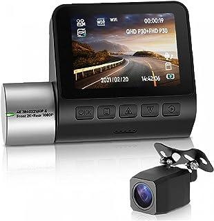 WiFi Dash Cam Auto Video Recorder Camera, met nachtzicht 170-graden brede hoek Dual Cam Capture HD-video
