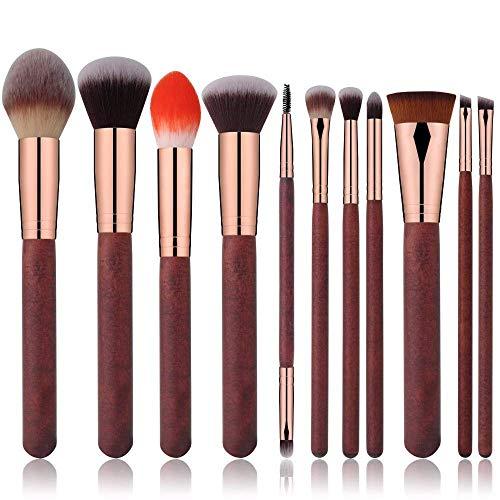 JFFFFWI Pinceau de Maquillage 11 Ensembles de pinceaux cosmétiques Outils cosmétiques pour pinceaux à lèvres