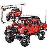 FADY Cochecito deportivo con motor de retorno, set de construcción compatible con Lego Technic, 989 piezas