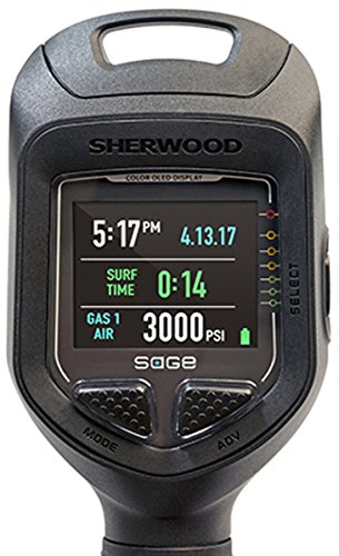 Sherwood Scuba Sage OLED Color Screen Air Integrated Dive Computer with Bluetooth Integration