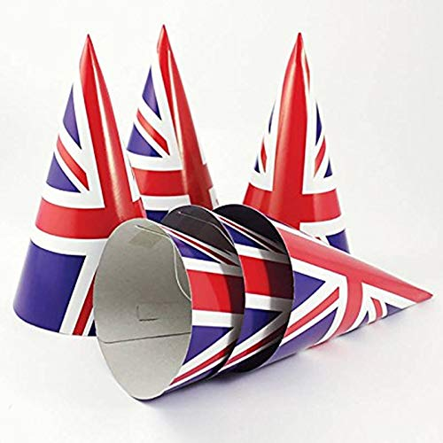 8 Partyhütchen * Union Jack * für eine England-Mottoparty // UK Großbritannien Hütchen Deko Verkleidung