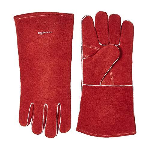 AmazonBasics Welding Gloves - Red, 1-Pack
