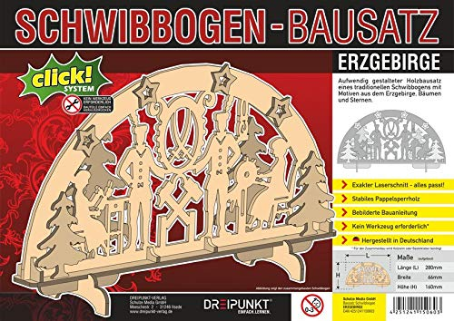 Bausatz Schwibbogen 'Erzgebirge': Detaillierter Holz-Modellbausatz für einen traditionellen Schwibbogen.