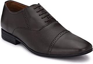 Park Avenue Solid Brown Coloured Synthetic Men Formal Shoes