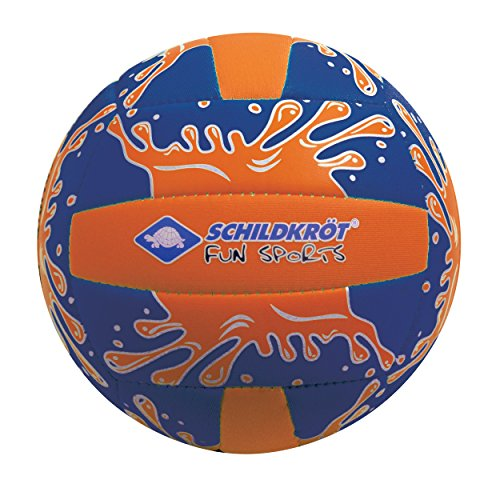 Schildkröt Funsports Neopren Mini-Beachvolleyball GR. 2 Ø 15cm, Kleiner Volleyball, 970274 Ball, orange/Blau, 2