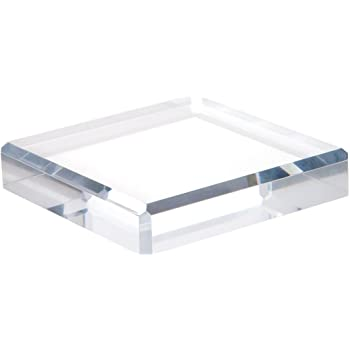 1 H x 10 W x 10 D Plymor Clear Polished Acrylic Square Display Block