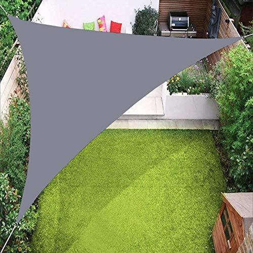 Toldo impermeable YTQ para toldo de jardín, patio, piscina al aire libre, con ojales y tres cuerdas, varios colores 2,4 x 2,4 x 2,4 m (color: gris claro)