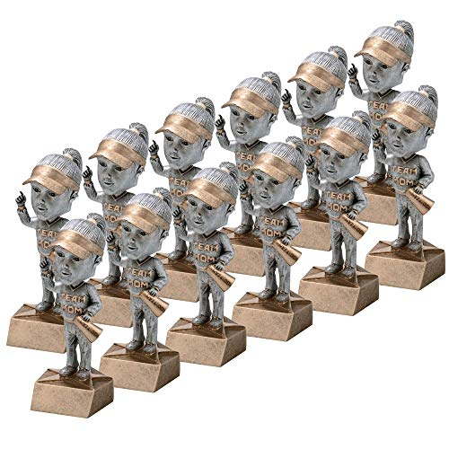 """On Top Awards - Team Mom Bobble Trophy Award Resin - 5.5"""" Tall (Pack of 12)"""