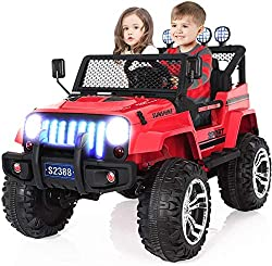 Angstep 2 Seater Kids Electric Car, 12v Battery Car for Kids
