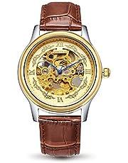 Time100 多機能 スケルトン ファッション オートマチック 機械式 メンズ腕時計 #W60015G