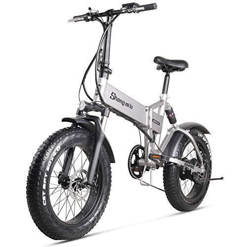 Skyzzie Bicicleta eléctrica de 20 Pulgadas Bicicleta Plegable MTB Ebike con Gran...