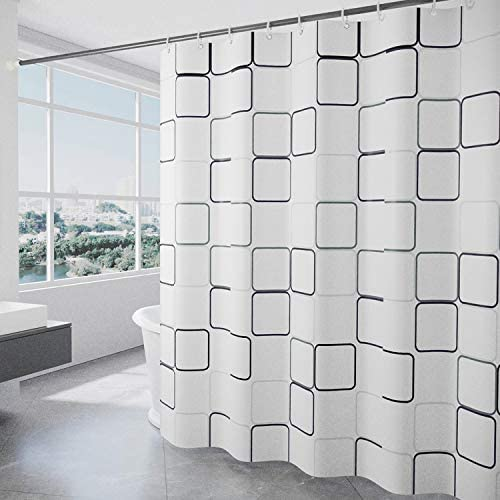 Modern Bathroom Shower Curtains Farmhouse Shower Liner Set Polyester Heavy Duty Fabric Water product image