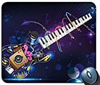音符と抽象的なギター滑り止めラバーマウスパッドゲーミングマウスマットマウスパッド