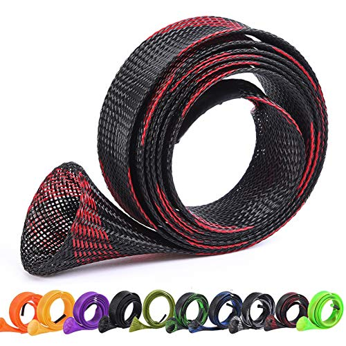 ZHENDUO OUTDOOR 10Pcs/Set Rod Sock Fishing Rod Sleeve Rod Cover Braided Mesh Rod Protector Pole Gloves Fishing Tools for Casting Sea Fishing Rod (10pcs 10Color)
