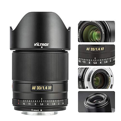 VILTROX 33mm F1.4 AF Lens for Fuji X-Mount, XF Auto-Focus Full Frame Portrait Lens for Fujifilm X-Mount Camera X-A7/A5/A3/A2 X-T3/T4/T2/T1/T30/T20/T10/T200/T100 X-H1 X-Pro2 X-Pro1