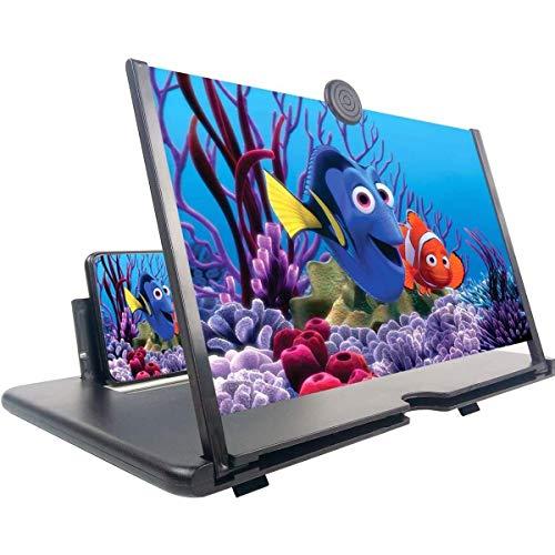 Lianye Lente d ingrandimento dello schermo, lente d ingrandimento ingrandita pieghevole da 12 pollici Protezione degli occhi dalle radiazioni Amplificatore video 3D HD