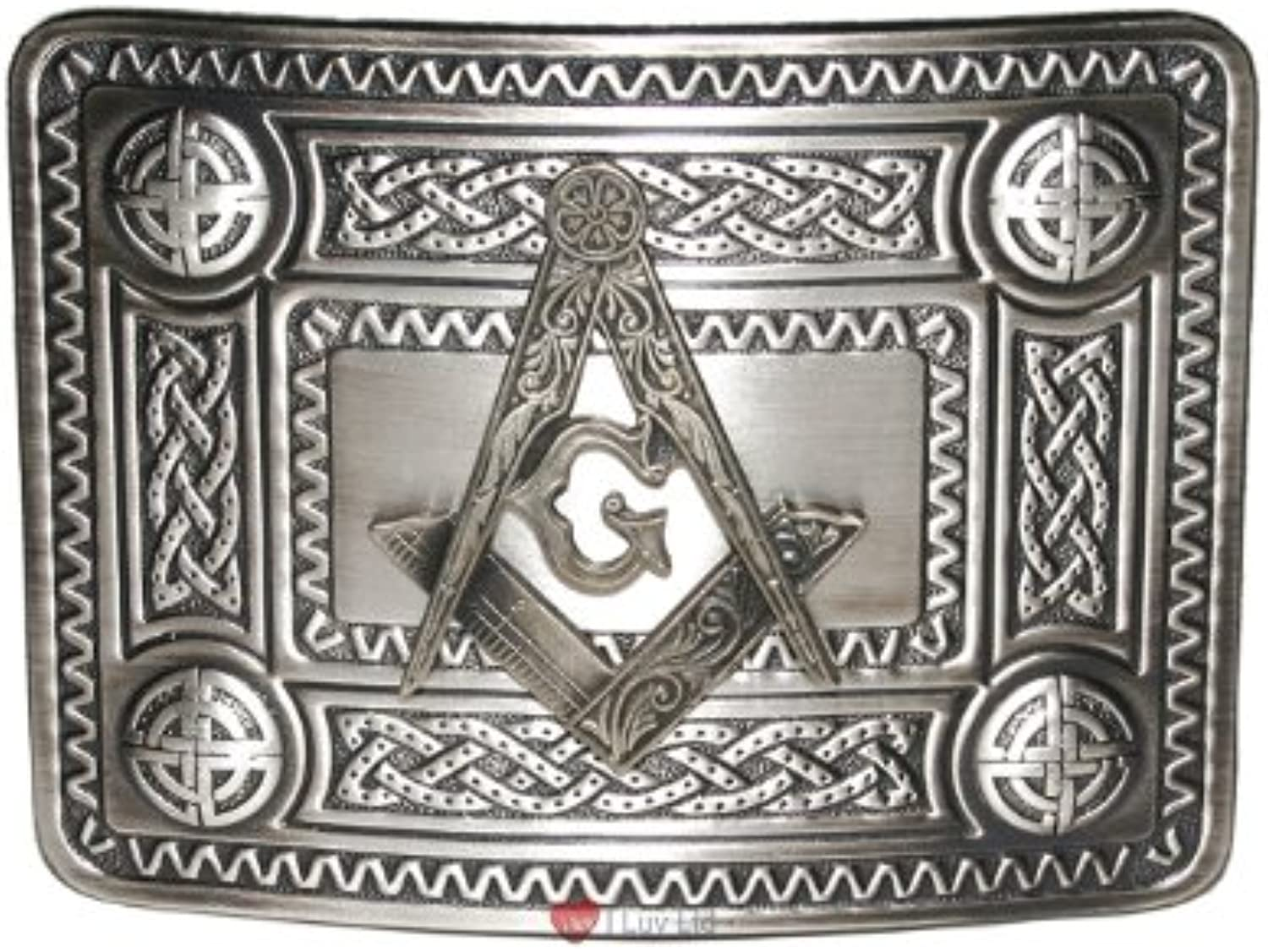 Masonic Celtic Knot Buckle Antique