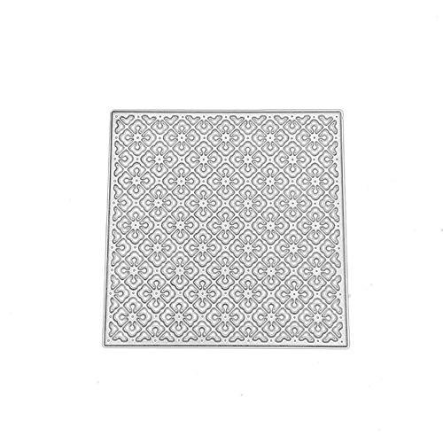 FNKDOR Stanzschablone Scrapbooking Stempel Schablonen Stanzmaschine Stanzformen Prägeschablonen, Zubehör für Sizzix Big Shot und andere Prägemaschine (E)