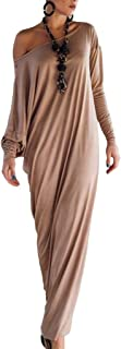 Jixin4you Women Casual Long Sleeve Skirt Maxi Dress CE03
