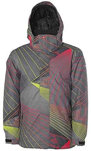 Quiksilver Herren Snowboardjacke Funktionsjacke Jacke (Grau, S)