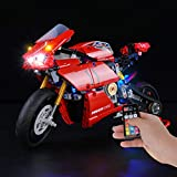 BRIKSMAX Led Lighting Kit for Ducati Panigale V4 R - Compatible with Lego 42107 Building Blocks Model- Not Include The Lego Set
