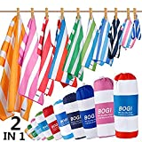 BOGI Microfibre Beach Towels for Travel -Quick Dry Lightweight Ultra Absorbent Sand Free