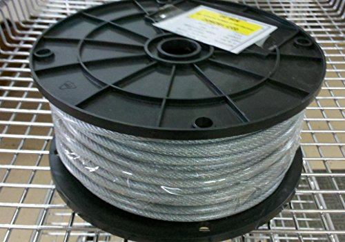 250 Ft 18 x 316 Coated Clothesline Cable for Wash Lines