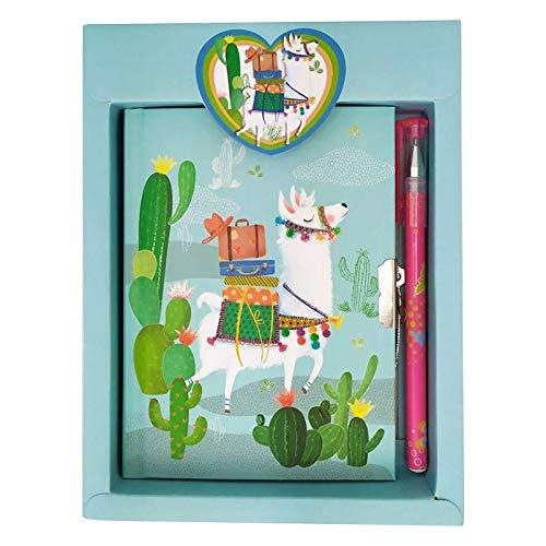 Set di 23 set con diario e penna a fiamme, diario per comunione, compleanno per bambini e bambine.