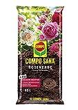 Compo SANA Rosenerde mit 12 Wochen Dünger für alle Beet- und Topfrosen, Kultursubstrat, 40 Liter, braun