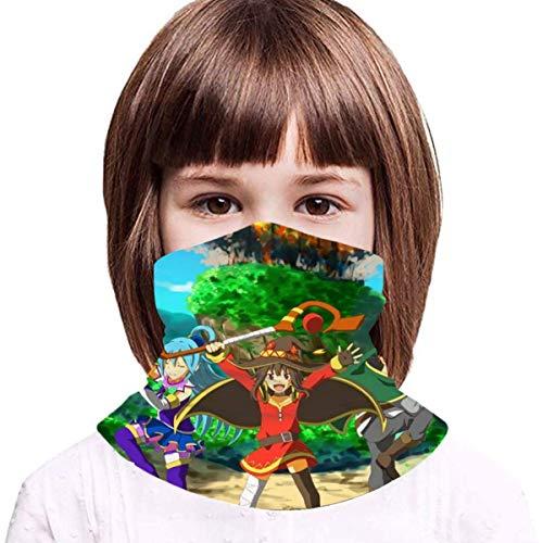 TUCBOA Neck Gaiter,Sword Art Online Head Wrap para Niños, Lindos Sombreros 12 En 1 para Escalar Y Caminar,20x35cm