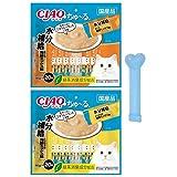 いなば 猫用 チャオ ちゅ~る 水分補給 (まぐろ海鮮ミックス味 とりささみ海鮮ミックス味)各20本入 ちゅ~るスプーン付き