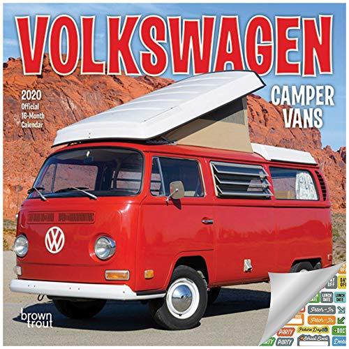 Volkswagen Camper Vans Calendar 2020 Set - Deluxe 2020 VW Bus Mini Calendar with Over 100 Calendar Stickers (VW Gifts, Office Supplies)