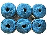 Silk Bamboo Yarn, 2.2oz, 6-Pack (Sapphire)