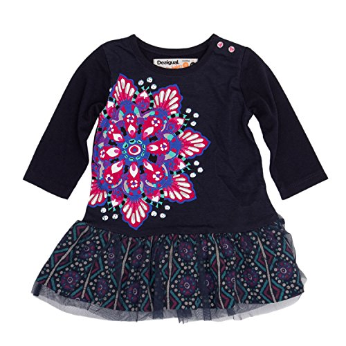 Desigual Vestido Corto bebé-niñas XX-Small Azul