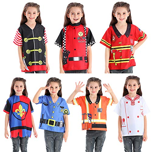 Fedio Kids Dress up Set 7 Pcs Boys Costume Career Role Play Set - Police,Pirate, Chef, Fireman,Car R - http://coolthings.us