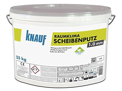 Raumklima Scheibenputz 1,0 mm Körnung a 25 kg Eimer
