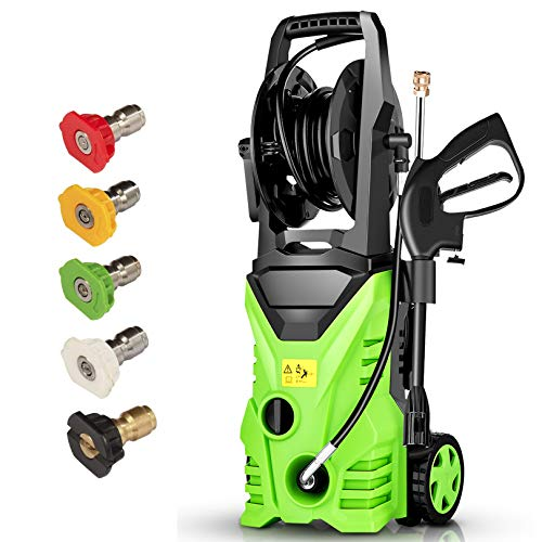 Homdox Electric Pressure Washer Power Washer Cleaner 2850PSI 1.7GPM Power Pressure Washer Machine 1800W with Power Hose Gun Turbo Wand, 5 Interchangeable Nozzle