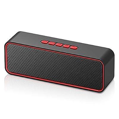 Sonkir Portable Bluetooth Speaker, Bluetooth 5.0 Wireless Speaker with 3D Stereo Hi-Fi Bass, Built-in 1500 mAh Battery, 12H Playtime (Red) from Sonkir