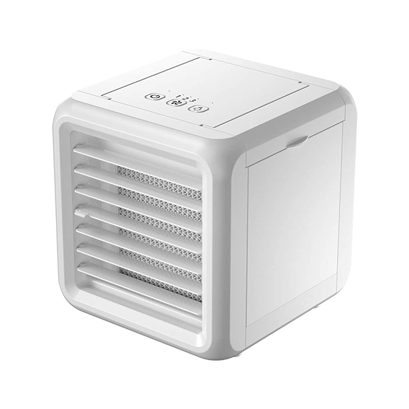 Slow Time Shop USB Mini Portable Air Conditioner, Personal Space Air Cooler 3 in 1 Humidifier, Purifier, Evaporative Cooler Desktop Cooling Fan with 3 Speeds,LED Light