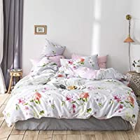 2-Pack VClife Cotton Shabby Floral Duvet Cover