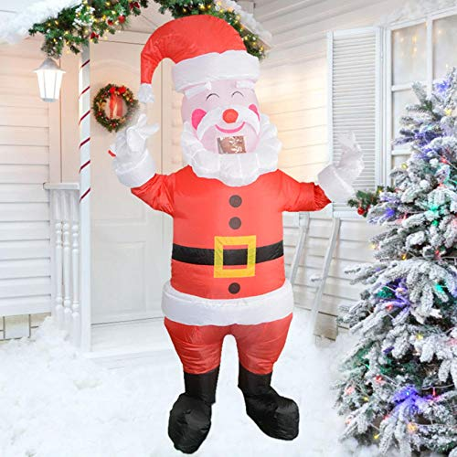 JIANGUO 150cm Christmas Inflatables Santa Claus, Xmas Blow Up Outdoor Decorations LED Lights Holiday Yard Lawn Garden Indoor Xmas Decor Prop, Outdoor Garden Toys (B)