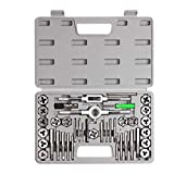 SharCreatives 40 Piece SAE Threading Tap & Die Tool Set Coarse and Fine