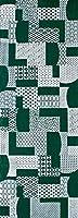 染の安坊 手ぬぐい 日本製 伊勢型紙 はぎれ 千歳緑