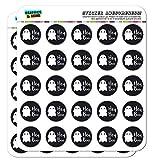 Hey Boo Cute Kawaii Ghost 1' Planner Calendar Scrapbooking Crafting Opaque Stickers