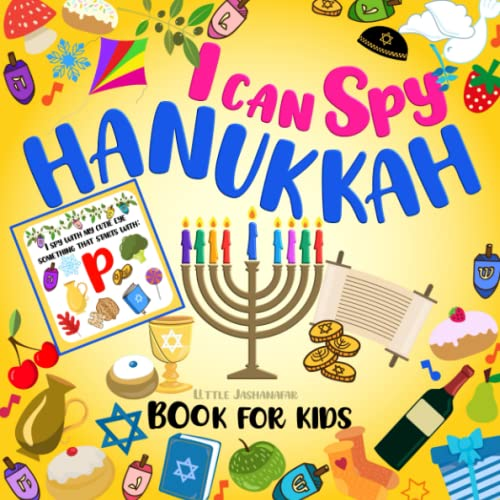 I Can Spy Hanukkah Book For Kids Ages 2-5: Chanukah Gift For Toddlers Preschool   A Fun Guessing Game With Dreidels Religious Jewish Symbols   Jewish Holiday Activity Book