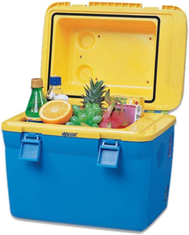 POIUYT 18L Kühlbox Kompaktkühlschrank Camping BBQ Familie Outdoor-Aktivitten 12V Für Auto Mit Groer Kapazitt Tragbar Kühl Warm 40.5X28.5X38CM,Blau