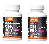 Jarrow Formulas Ubiquinol + Pyrroloquinoline Quinone QH-Absorb + PQQ as a Dietary Supplement (30 Softgels) Pack of 2