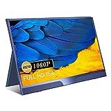 15.6 pulgadas Monitor portátil Monitor externo 1080P FHD Pantalla IPS con HDMI para computadora portátil, PC, MacBook Pro, Xbox, PS4, teléfono Android con función Tipo-C completo ( Color : Blue )