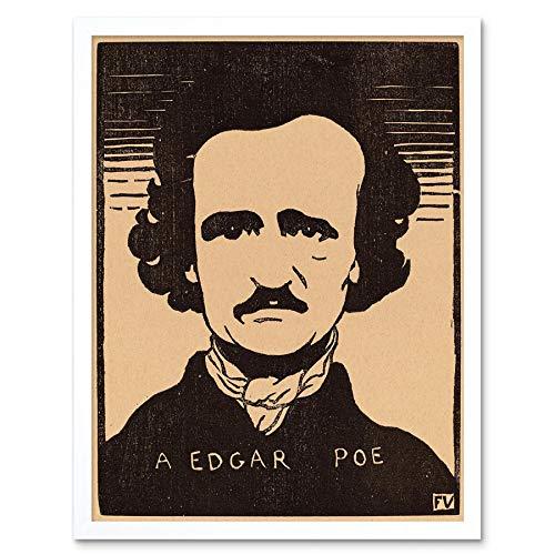Wee Blue Coo Felix Vallotton Zwitserse Allen Edgar Poe Oude Schilderij Art Print Ingelijste Poster Muurdecoratie 12X16 Inch
